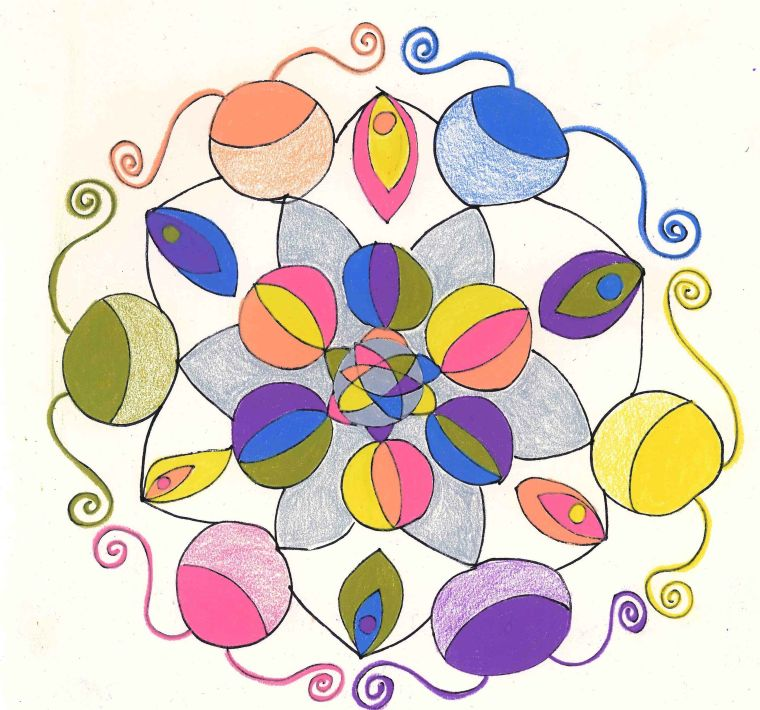easter egg mandala