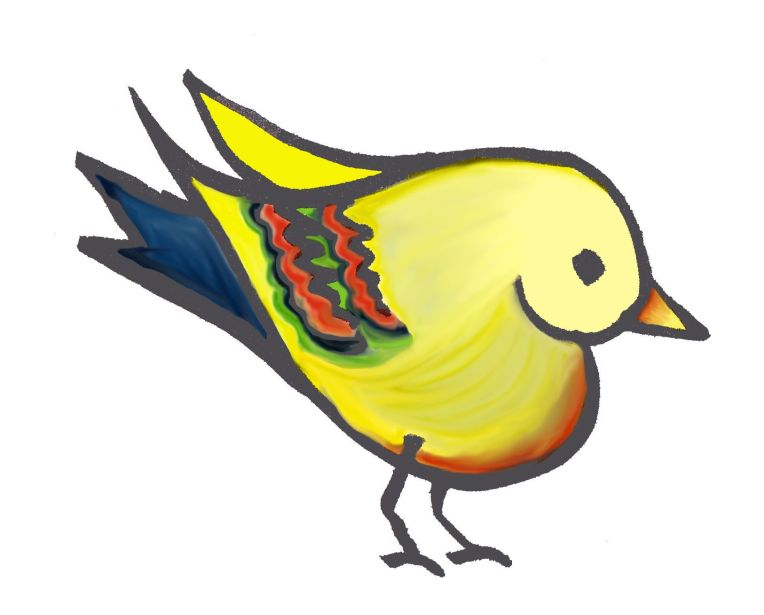 heart bird coloured for website logo