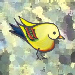 heart bird bark background
